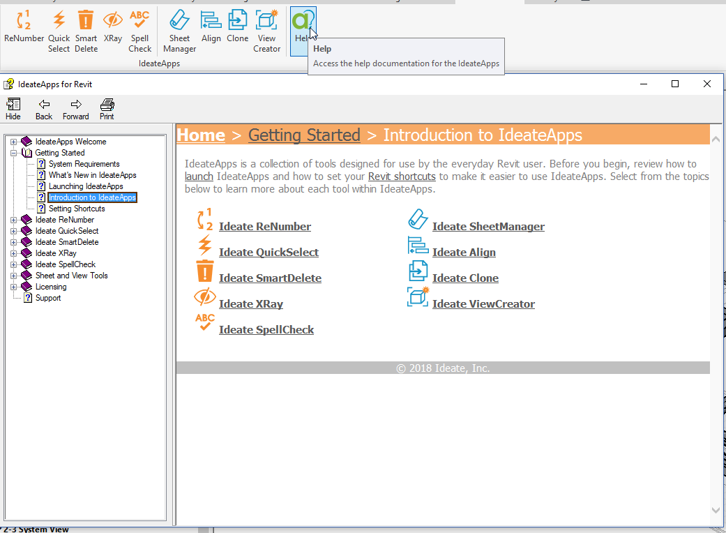 IdeateApps for Revit Getting Started Guides | Ideate