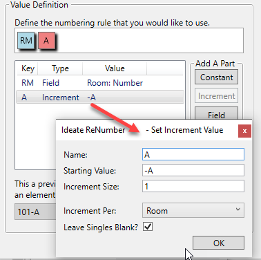 Rule Value Definition in Ideate ReNumber for Revit | IdeateApps