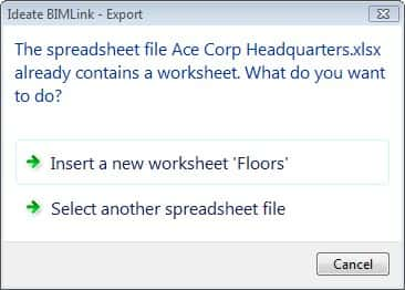 Worksheet An Excel File That Contains One Or More Worksheets exporting revit data to an excel file two options ideate bimlink existing contains one or more worksheets and of the has same name as link being expo