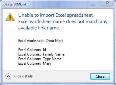 Learn More About Ideate BIMLink Error and Warning Messages