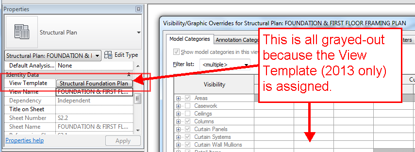 Using View Templates in Revit 2013, view templates, Revit 2013, visibility graphics, Ideate Software, Ideate BIMLink, BIMLink, BIM, Excel