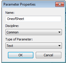Parameter Properties, One of Sheet, Revit,  Ideate, BIMLink