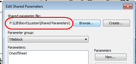 shared parameter file, shared parameter path