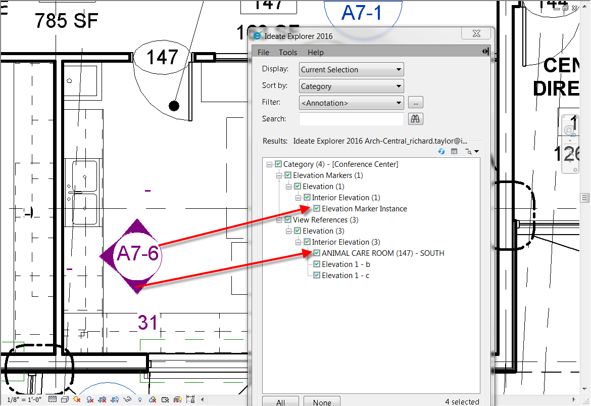 Orphaned elevation markers, Revit, Revit elevation markers, interior elevation markers
