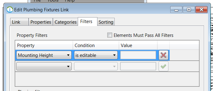 "Use Ideate BIMLink to filter based on whether a parameter is editable.  Ideate BIMLink support both ""AND"" and ""OR"" filters."