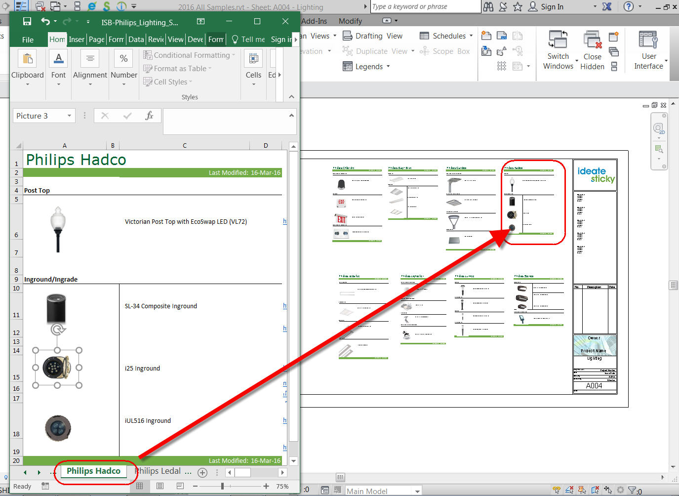 Sample Excel file in Ideate Sticky