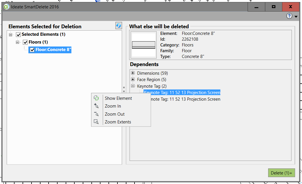 delete in Revit, Revit delete, SmartDelete, Ideate Software, IdeateApps