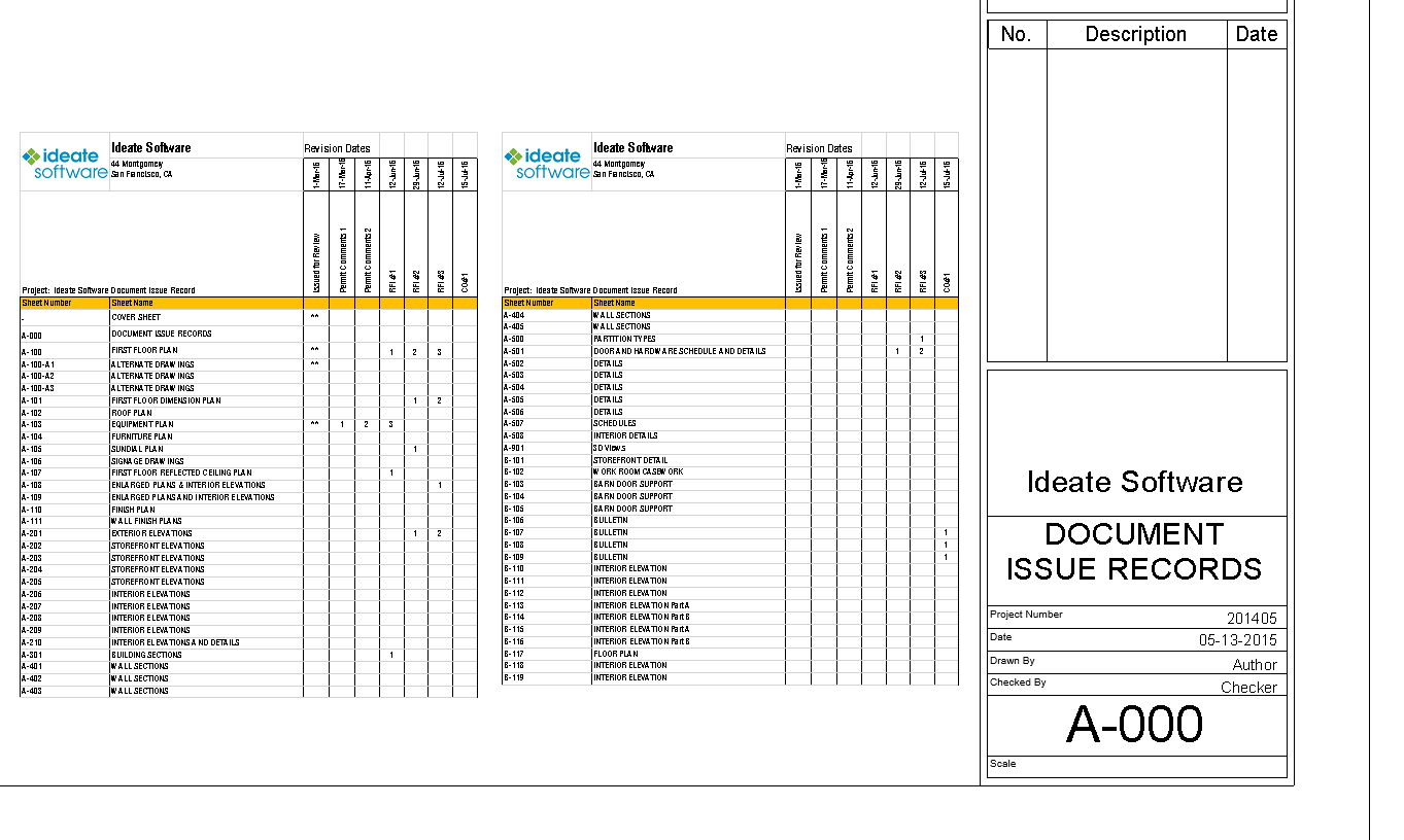 Ideate Software Document Issues Record Template example 2