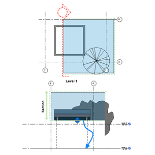 Checking the position of an element within the Revit bounding box.