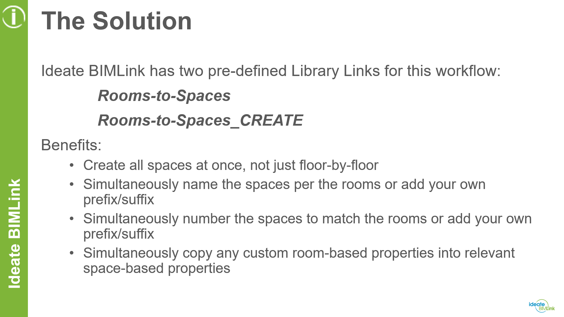 MEP Space Information - Solution