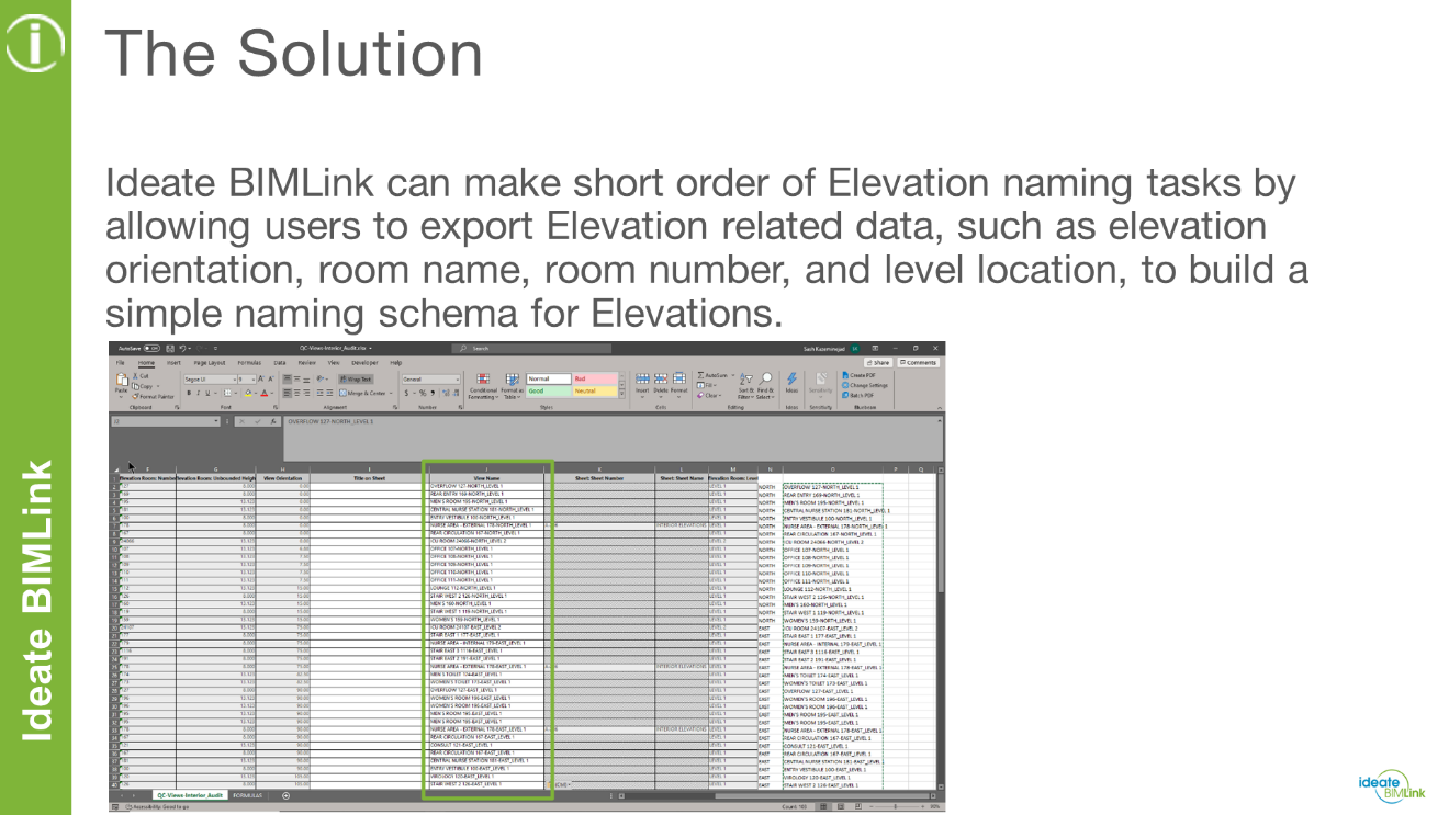 Easy Elevation View Management with Ideate BIMLink
