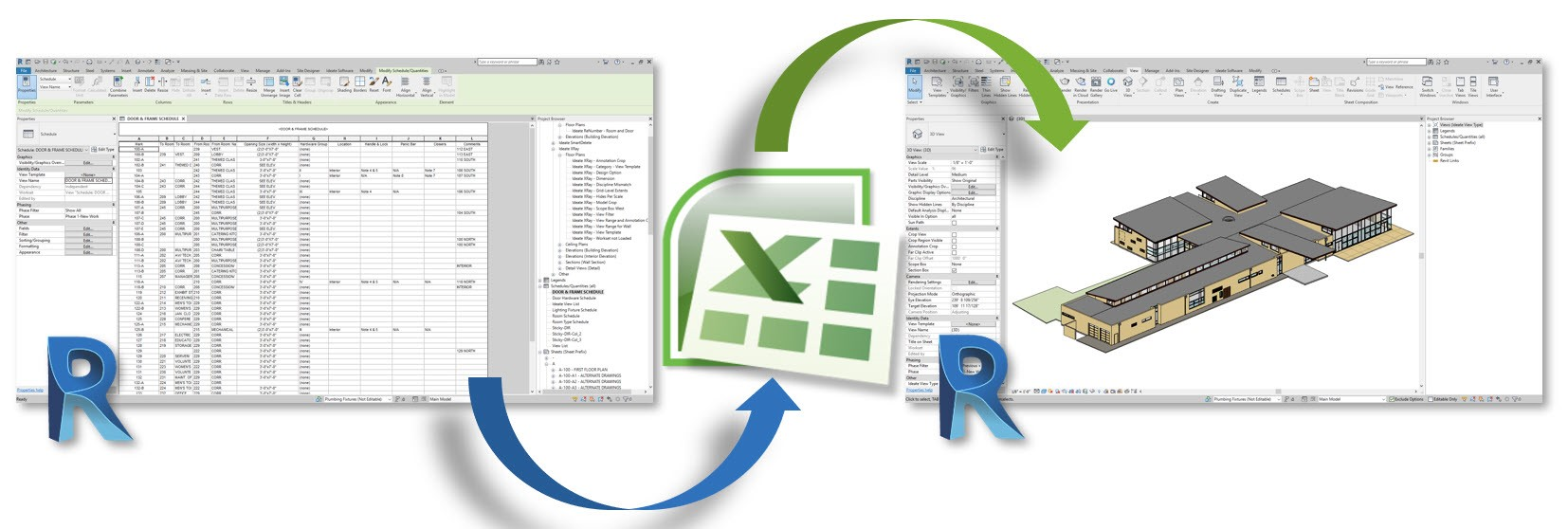 Import and Export from Revit to Excel